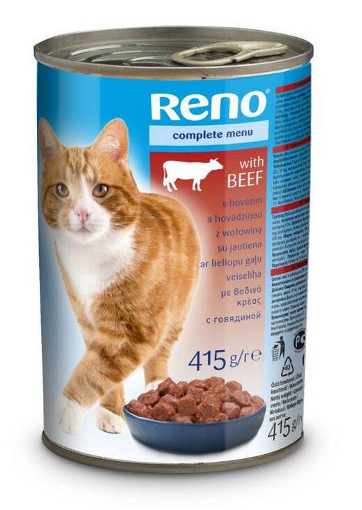 Reno Cat Kousky hovězí 415 g (RENOKKH)