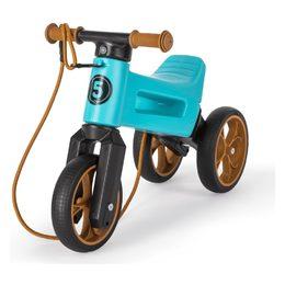 Odrážedlo FUNNY WHEELS Rider SuperSport tyrkys 2v1+popruh, výš. sedla 28/30cm nos. 25kg 18m+ vkrab.