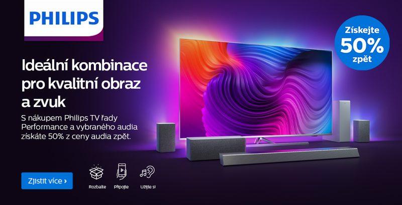 S nákupem TV z řady Performace a vybraného audia získáte 50% ceny audia zpět!