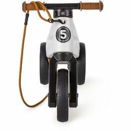 Odrážedlo FUNNY WHEELS Rider SuperSport bílé 2v1+popruh, výš. sedla 28/30cm nosn. 25kg 18m+ vkrab.